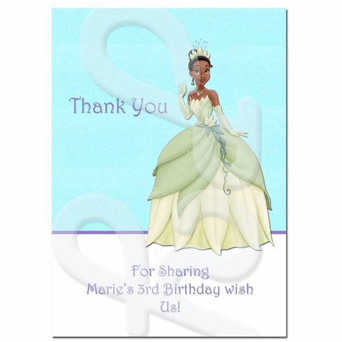 Princess and the Frog Personalized Thank you Cards