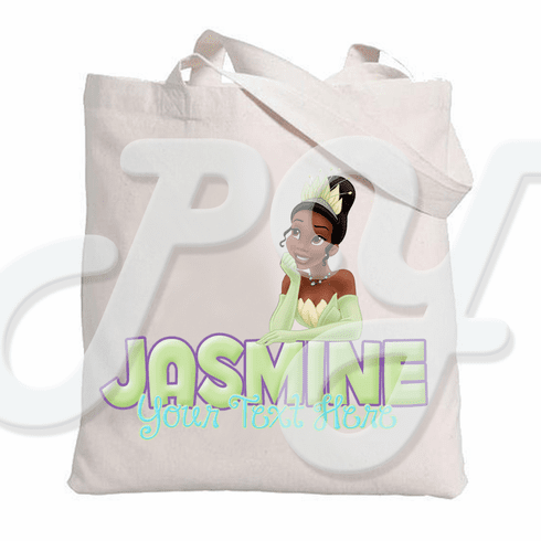 Princess and the Frog Tiana Personalized Tote Bag