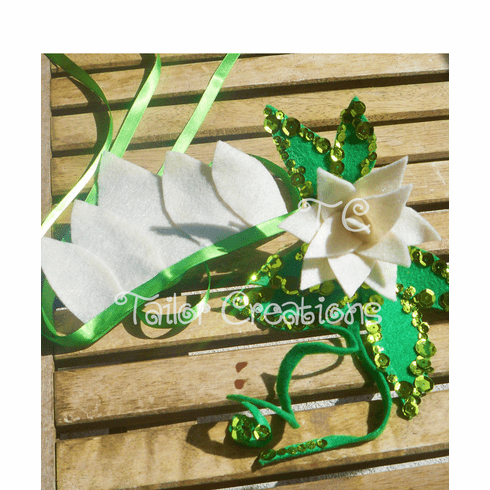 Princess and the Frog Tiana Sequin Headband and Flower Felt Set