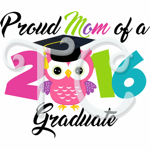 Proud Member Pink Owl Graduation personalized t shirt