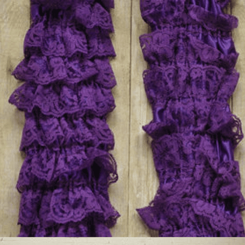 Purple  Petti Lace Leg Warmers