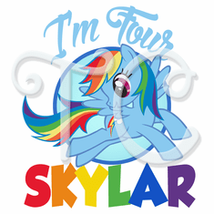 My Little Pony Rainbow Dash Birthday Shirt Source