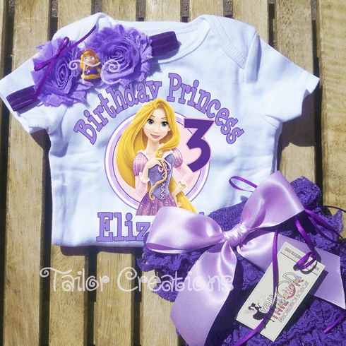 Rapunzel Tangled Purple Personalized Petti Lace Bloomers/Shorts