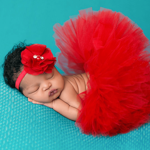 Ruby Red Newborn tutu set
