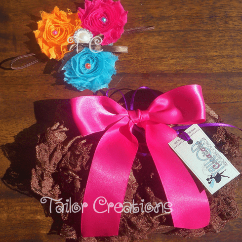 Shabby Chic Headband & Petti Lace Bloomers/Shots