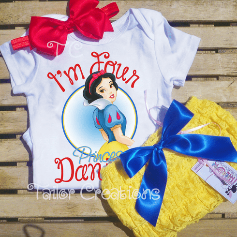 Snow White Personalized Petti Lace Set