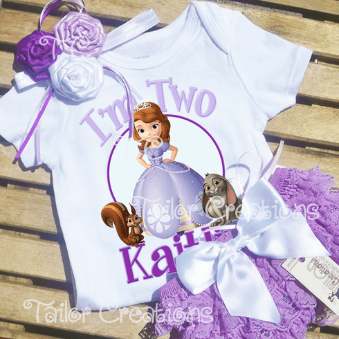 Sofia the First Personalized Lavender Petti Lace Set
