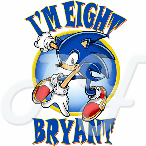 Sonic The Hedgehog Personalized Birthday T Shirt
