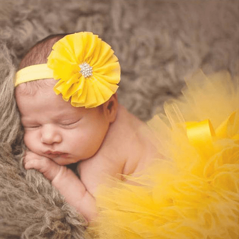 Sunshine Yellow Newborn tutu Set