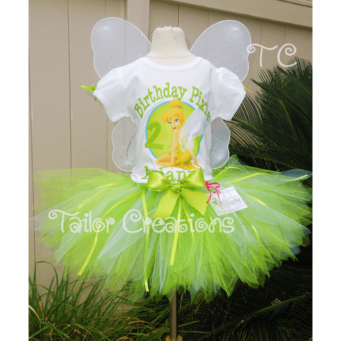 Tinkerbell Personalized Birthday Tutu Set