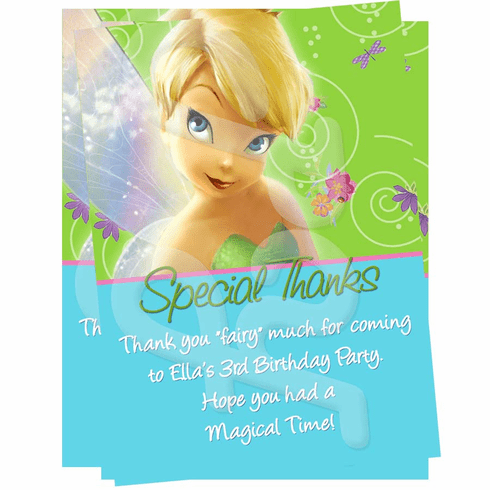 Tinkerbell Personalized Thank You Cards