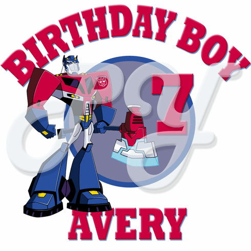 Transformers Personalized Optimus Prime Birthday t-shirt