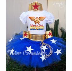 Wonder Woman Personalized Birthday tutu Set