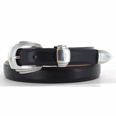 "1006-1 Women's Italian Designer Leather Belt - 1"" wide"