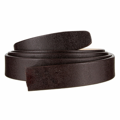 "101 One Piece Leather Strap Without Holes - 1"" WIDE BROWN"