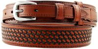 "1022 Western Basket-weave Ranger Belt - 1 1/2"" Wide - 3/4"" Billet - 3 COLORS AVAILABLE"