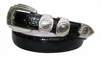 1081 Star Medallion Western Calfskin Leather Belt