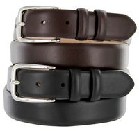"1145 Italian Calfskin Leather Dress Belt - 1 1/8"" Wide"