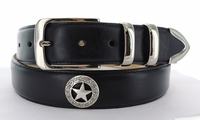 "1160 Western Smooth Leather Belt - 1 3/8"" wide"