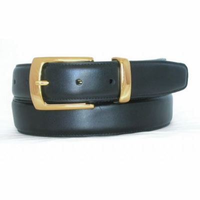 "1273 Italian Calfskin Leather Dress Belt - 1 1/4"" wide"
