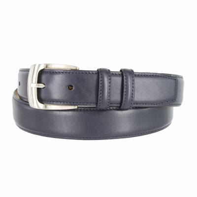 "1274 Dress Leather Belt Curved Buckle - 1 1/4"" wide"