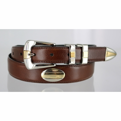 1296 Hand Dyed Smooth Leather Belt