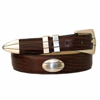 1319 Concho Leather Dress Belt - Up to size 60""