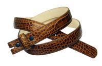 "1325 Alligator Grain 1"" wide Tan Belt Strap"