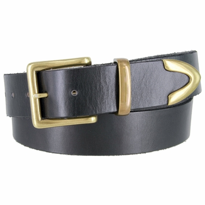 "1384 Casual Dress Full Grain Leather Belt - 1 1/2"" wide"
