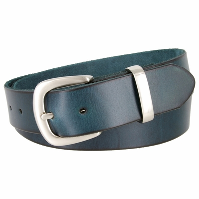 "1393 Casual Leather Dress Belt - 1 1/2"" wide"