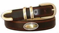 "1400 Concho Leather Dress Belt - 1 1/8"" wide"