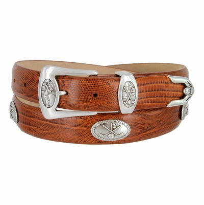 "1420 Golf Italian Calfskin Leather Belt - 1 1/8"" wide"