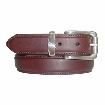 "1446 Casual Italian Calfskin Leather Belt - 1 3/8"" wide"