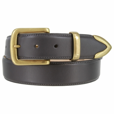 "1451 Casual Leather Dress Belt - 1 3/8"" wide"