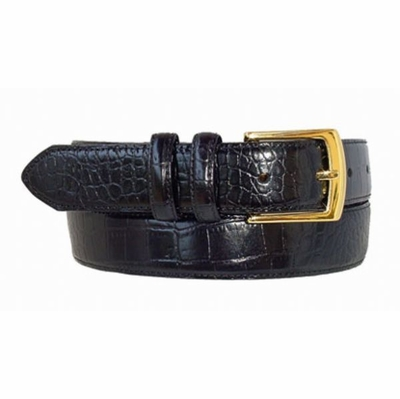 "1470 Calfsking Leather Dress Belt - 1 1/8"" wide"