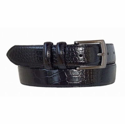 "1473 Italian Calfskin Leather Belt - 1 1/8"" wide"