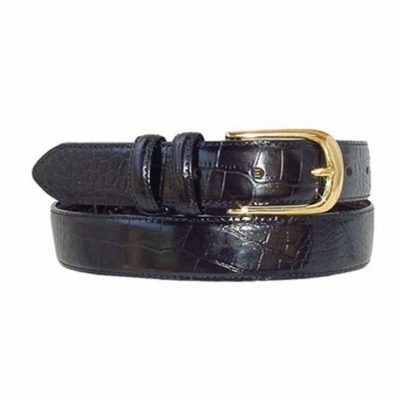 "1478 Italian Calfskin Embossed Leather Dress Belt - 1 1/8"" wide"
