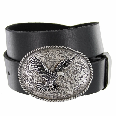 "1533 Silver  Eagle Full Grain Leather Casual Belt - 1 1/2"" WIDE"