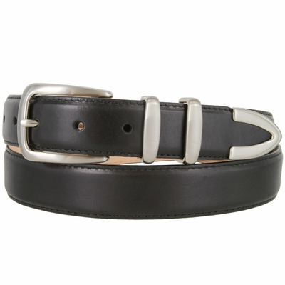 "1541 Smooth Genuine Italian Calfskin Leather Dress Belt 1-1/8"" wide"