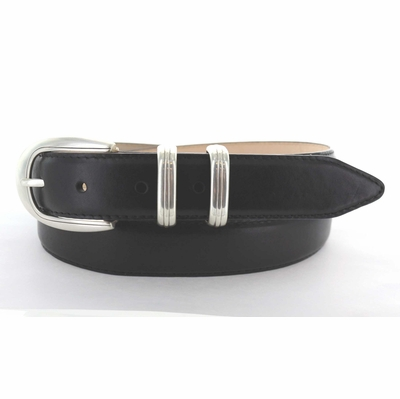 "1545 Italian Calfskin Leather Dress Belt - 1 1/8"" wide"