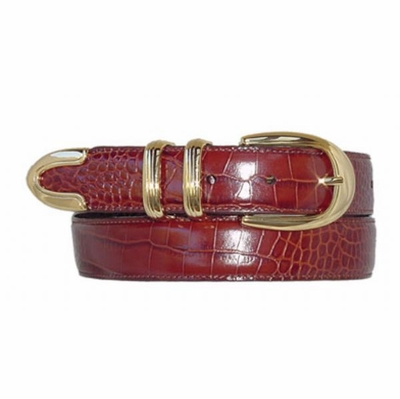 "1547 Fullerton Golden Calfskin Leather Dress Belt - 1 1/8"" wide"