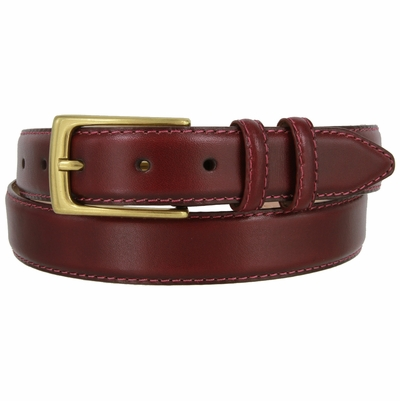 "1565 Calfskin Leather Dress Belt - 1 1/8"" wide"
