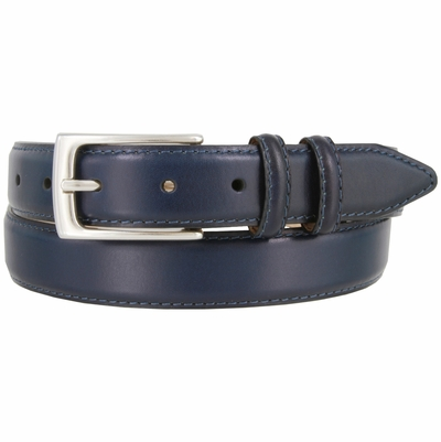 "1566 Men's Italian Calfskin Leather Dress Belt - 1 1/8"" wide"