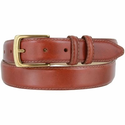 "1567-OEB Genuine Leather Calfskin Dress Belt - 1 1/8"" wide"