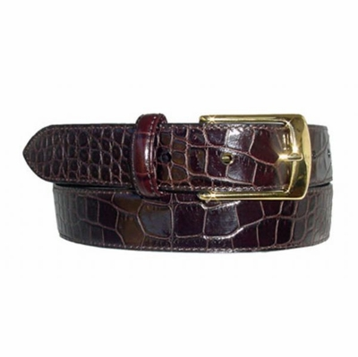 "1587 Men's Leather Dress Belt  - 1 1/8"" wide"