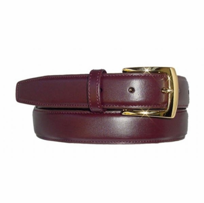 "1593  Smooth Leather Dress Belt - 1 1/8"" wide"
