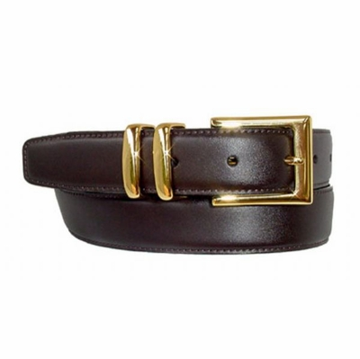 "1616 Gold Men's Leather Dress Belt - 1 1/8"" wide"