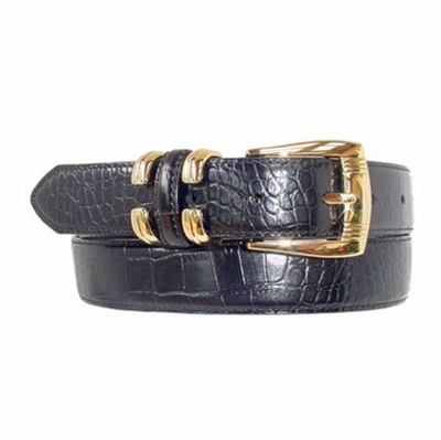 "1626 Italian Calfskin Leather Belt - 1 1/8"" wide"