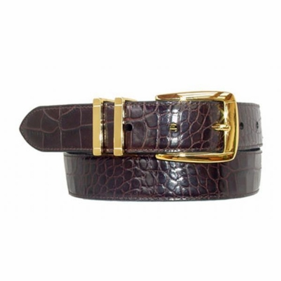 "1630 Calfskin Leather Dress Belt - 1 1/8"" wide"