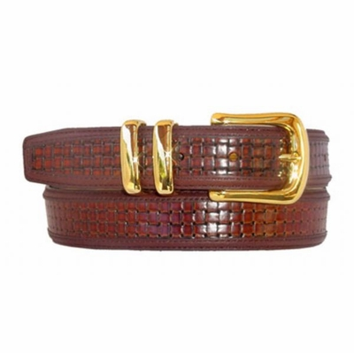 "1696 Leather Dress Belt - 1 1/4"" wide"